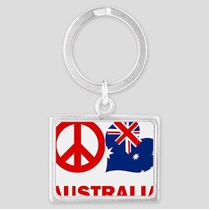 Peace Love Australia Landscape Keychain