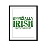 Officially Irish Framed Panel Print