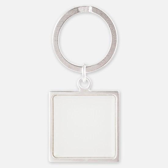 dg3white Square Keychain