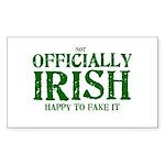 Officially Irish Rectangle Sticker