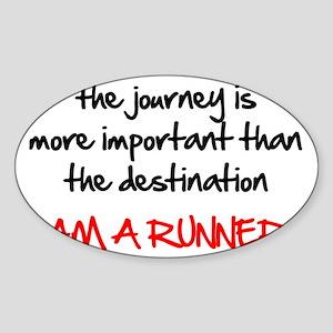 the-journey---runner Sticker (Oval)