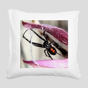 Black Widow Square Canvas Pillow