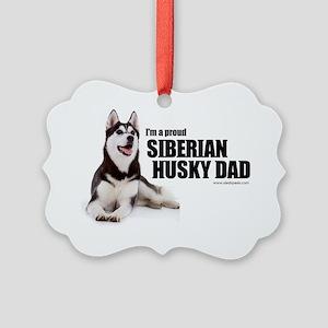 huskydadshirt Picture Ornament