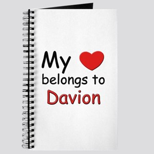 My heart belongs to davion Journal
