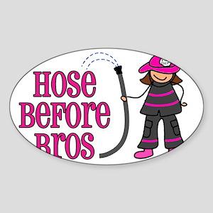hose bros LARGER Sticker (Oval)