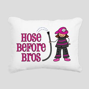 hose bros LARGER Rectangular Canvas Pillow