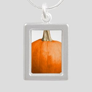 pumpkin Silver Portrait Necklace