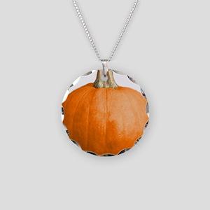 pumpkin Necklace Circle Charm