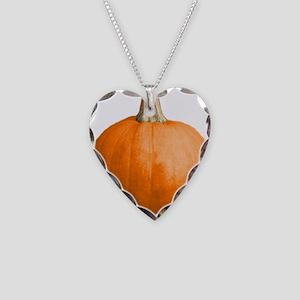 pumpkin Necklace Heart Charm