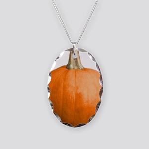 pumpkin Necklace Oval Charm