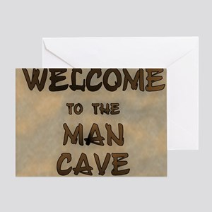 Welcome To The Man Cave Greeting Card
