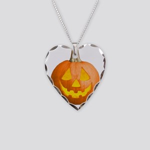 2-jackolantern Necklace Heart Charm