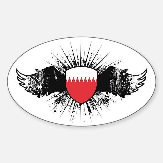 Wings1Bahrain1 Sticker (Oval)