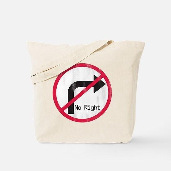noRIGHT Tote Bag
