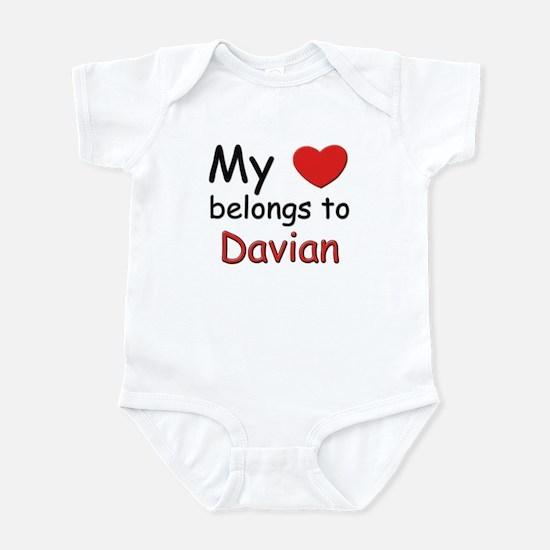 My heart belongs to davian Infant Bodysuit