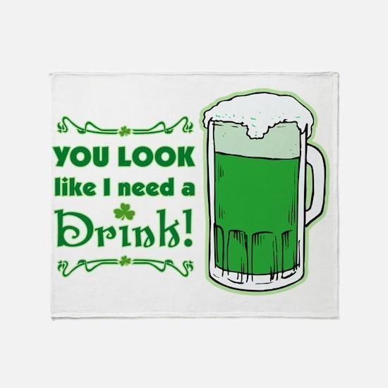 2-you_look_like_i_need_a_drink_both Throw Blanket