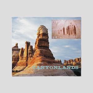 canyonlands1 Throw Blanket