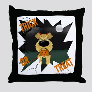 AiredaleHalloweenShirt1 Throw Pillow