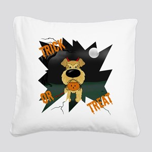 AiredaleHalloweenShirt1 Square Canvas Pillow