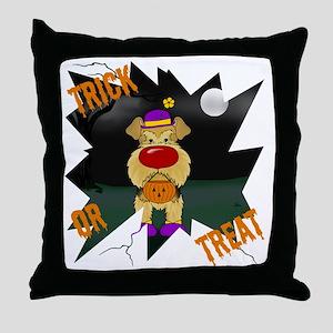 AiredaleHalloweenShirt2 Throw Pillow