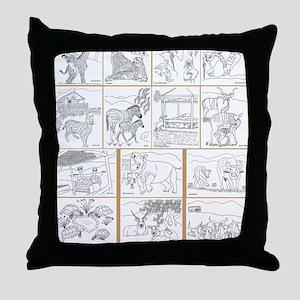 coverback1 Throw Pillow