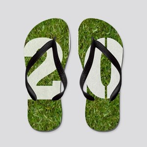 20th bday Pillow Flip Flops