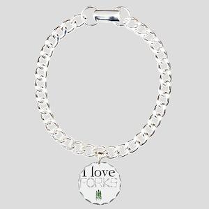 love forks 2 Charm Bracelet, One Charm