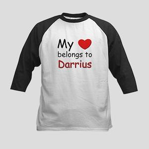 My heart belongs to darrius Kids Baseball Jersey