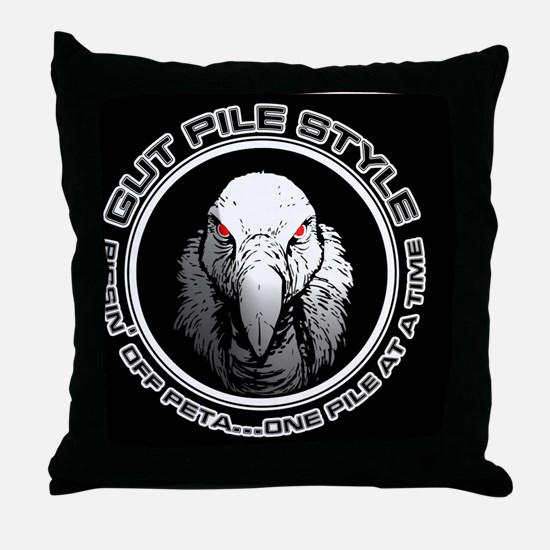 Gut Pile Style Buzzard mouse pad Throw Pillow