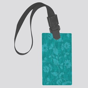 Acqua Floral Journal Large Luggage Tag