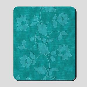 Acqua Floral Journal Mousepad