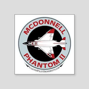 "McDonnell_PhantomII_Wht Square Sticker 3"" x 3"""