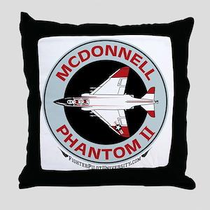 McDonnell_PhantomII_Wht Throw Pillow