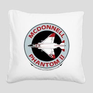 McDonnell_PhantomII_Wht Square Canvas Pillow