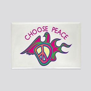 Choose Peace Rectangle Magnet