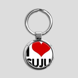 I Love SuJu Round Keychain