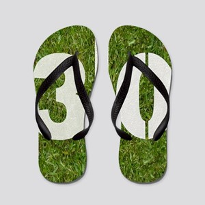 30th bday Pillow Flip Flops