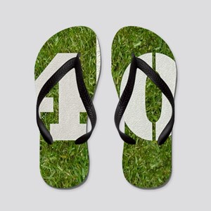 40th bday Pillow Flip Flops