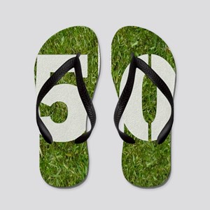 50th bday Pillow Flip Flops