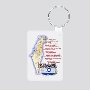 3-Israel Aluminum Photo Keychain