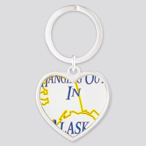 Alaska - Hanging Out Heart Keychain