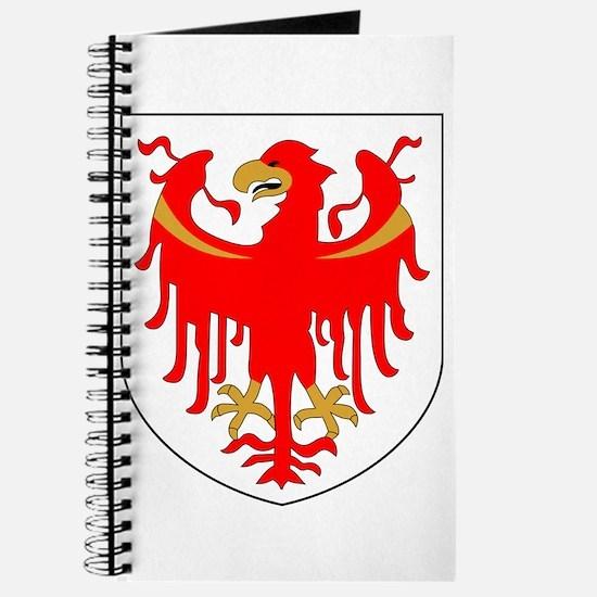 Alto Adige Sudtirol Graphic White Text Journal