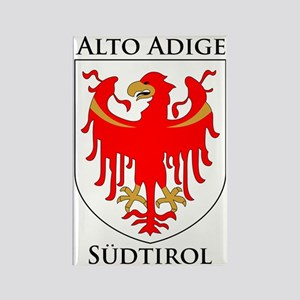 Alto Adige Sudtirol Graphic Black Rectangle Magnet