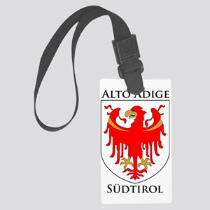 Alto Adige Sudtirol Graphic Blac Large Luggage Tag