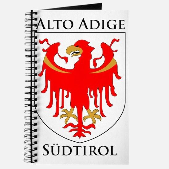 Alto Adige Sudtirol Graphic Black Text Journal