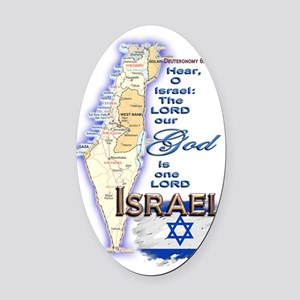 Israel deuteronomy 6 4 Oval Car Magnet