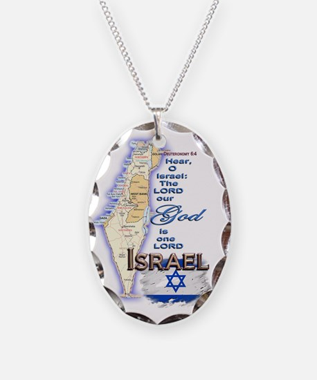 Israel deuteronomy 6 4 Necklace