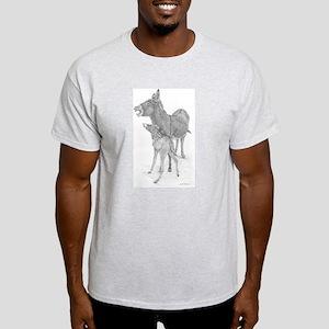 Concha & Mick Braying Ash Grey T-Shirt