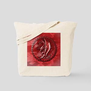 RedCelticDragonRound Tote Bag