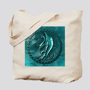 BlueCelticDragonMousepad Tote Bag